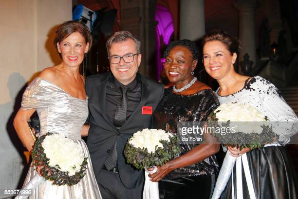 Minx Designer Eva Lutz Reinhard Maetzler Auma Obama halfsister of former US president Barack Obama and Luxembourgian presenter Desiree Nosbusch...