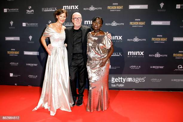 Minx Designer Eva Lutz with her husband and Eva Lutz Auma Obama halfsister of former US president Barack Obama during the Minx Fashion Night in...