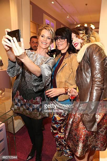 Minzi Princess Isabelle zu HohenloheJagstberg singer Nena and her daughter Larissa Kerner doing a selfie during the Talbot Runhof flagship boutique...