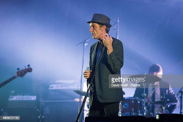 Miossec performs during day 1 of Rock En Seine Festival at Domaine National de SaintCloud on August 28 2015 in Paris France
