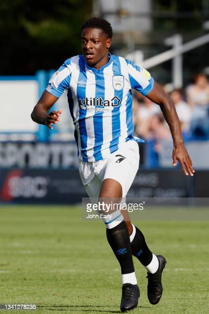 Mipo Odubeko of Huddersfield Town during the Sky Bet Championship match between Huddersfield Town and Nottingham Forest at Kirklees Stadium on...