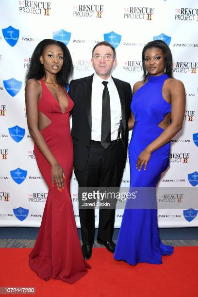 Miprincie Norvil guest and Dee Paul attend Vision 2020 BALL By The Rescue Project / Haven Hands Inc on December 12 2018 in New York City