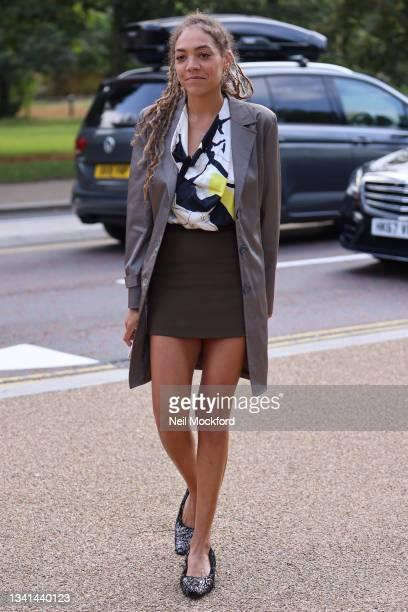 Miquita Oliver attends ROKSANDA at the Serpentine Gallery, Kensington Gardens during London Fashion Week September 2021 on September 20, 2021 in...