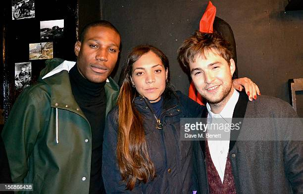 Miquita Oliver attends the launch of the Stutterheim Raincoats pop up shop in Shoreditch on November 22 2012 in London England