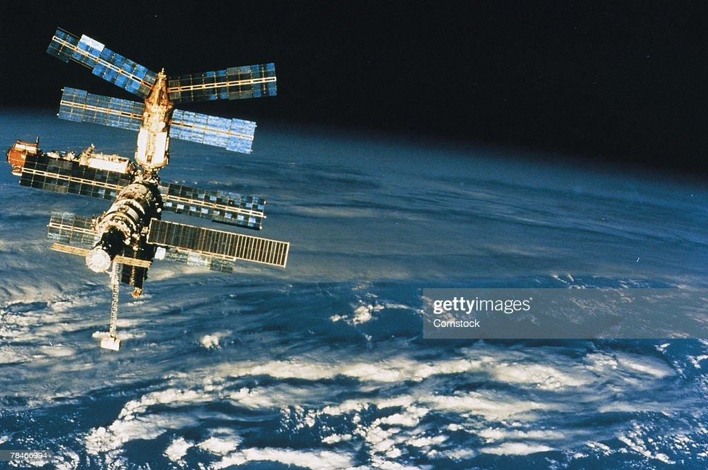 Mir orbital station : Stock Photo