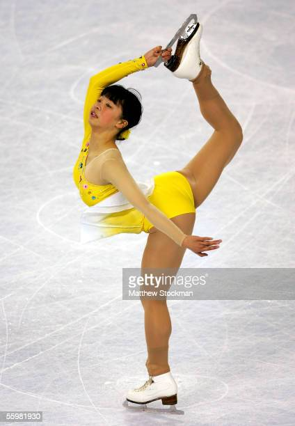 Mira Leung of Canada competes during the short program of the Smart Ones Skate America October 21, 2005 at Boardwalk Hall in Atlantic City, New...
