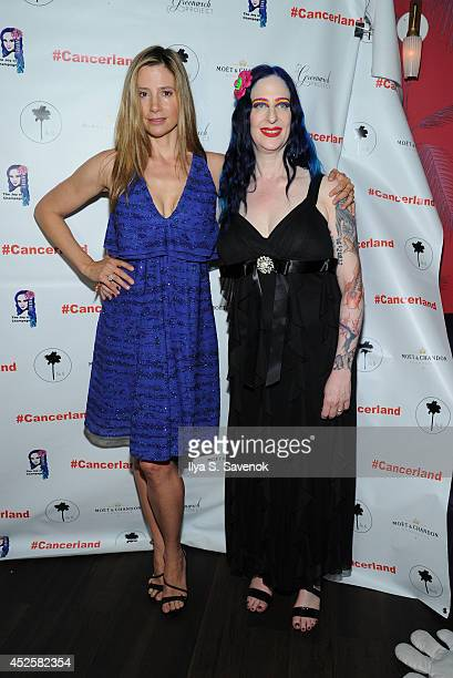 Mira Sorvino and Champagne Joy attend the Champagne Joy charity fundraiser hosted by Mira Sorvino at No 8 on July 23 2014 in New York City
