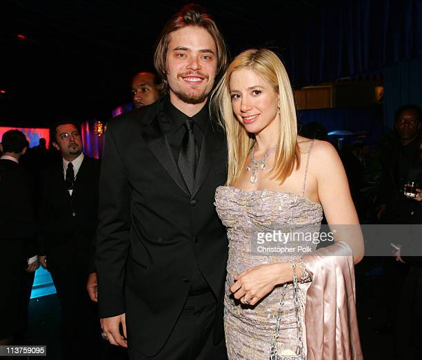 Mira Sorvino and Chris Backus during InStyle Warner Bros 2006 Golden Globes After Party Inside at The Oasis at the Beverly Hilton in Beverly Hills...