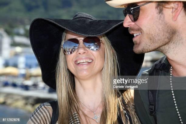 Mira Sorvino and Christopher Backus attend 2017 Ischia Global Film Music Fest on July 9 2017 in Ischia Italy