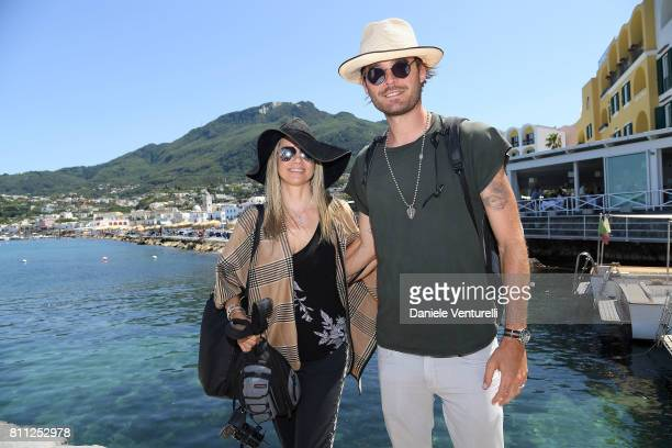 Mira Sorvino and Christopher Backus attend 2017 Ischia Global Film Music Fest on July 9 2017 in Ischia Italy