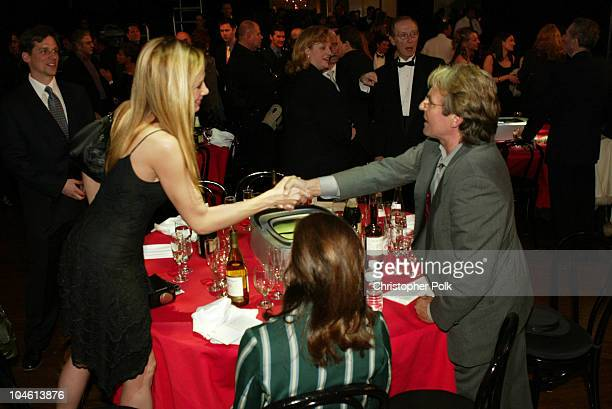 Mira Sorvino and Davy Jones during The TV Land Awards Backstage at Hollywood Palladium in Hollywood CA United States