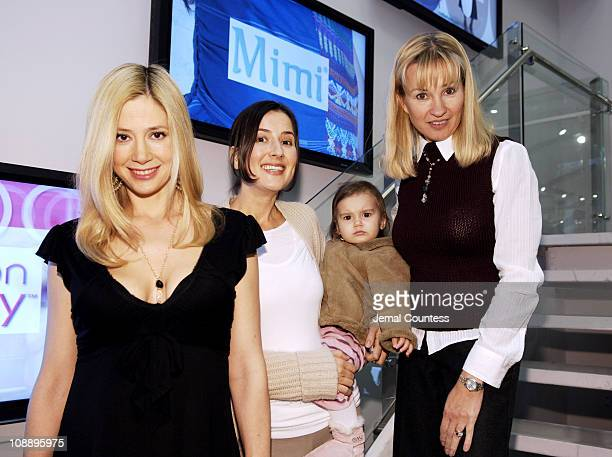 Mira Sorvino Anna Getty India and Rebecca Mathias owner of Destination Maternity