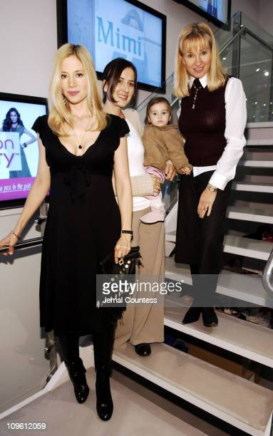 Mira Sorvino Anna Getty India and Rebecca Mathias owner of Destination Maternity
