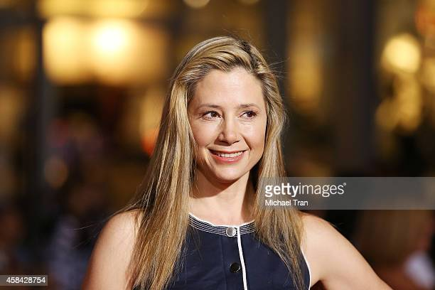 Mira Sorvino arrives at the Los Angeles premiere of 'Big Hero 6' held at the El Capitan Theatre on November 4 2014 in Hollywood California