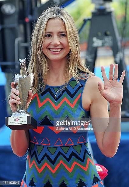 Mira Sorvino attends 2013 Giffoni Film Festival photocall on July 20 2013 in Giffoni Valle Piana Italy