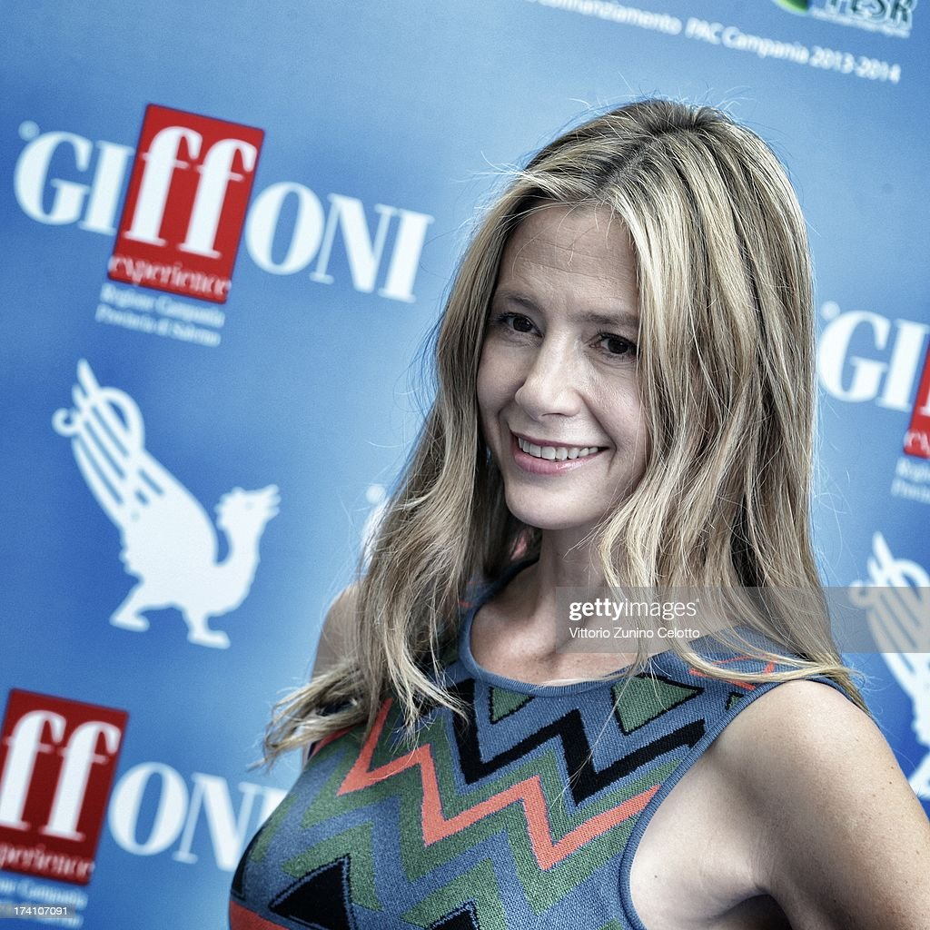 Mira Sorvino attends 2013 Giffoni Film Festival photocall on July 20, 2013 in Giffoni Valle Piana, Italy.