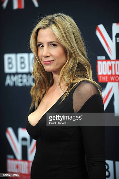 Mira Sorvino attends BBC America's 'Doctor Who' Premiere Fan Screening at Ziegfeld Theater on August 14 2014 in New York City