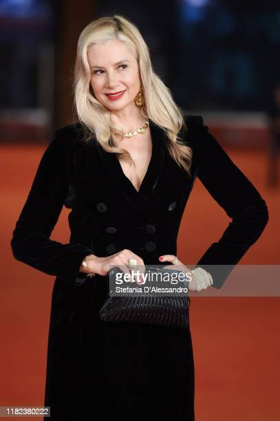 Mira Sorvino attends the Drowning red carpet during the 14th Rome Film Festival on October 20 2019 in Rome Italy