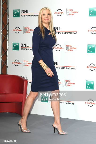 Mira Sorvino attends the photocall of the movie Drowning during the 14th Rome Film Festival on October 20 2019 in Rome Italy