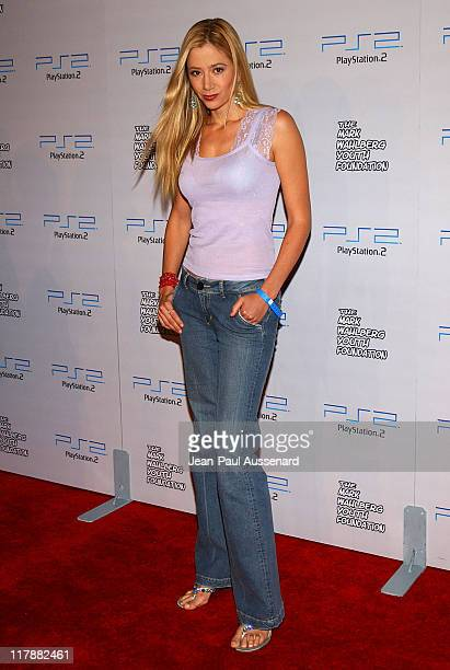Mira Sorvino during Play Station 2 and Mark Wahlberg Host Celebrity Gaming Tournament for Charity Arrivals at Club Ivar in Hollywood California...