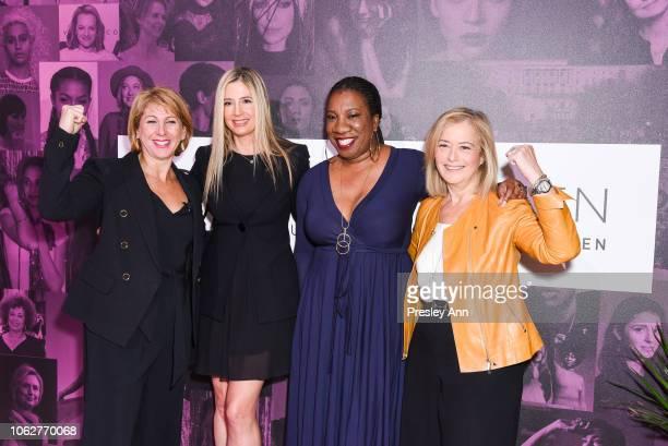 Mira Sorvino Sharon Waxman Tarana Burke and Hilary Rosen attend TheWrap's Power Women SummitDay 2 at InterContinental Los Angeles Downtown on...