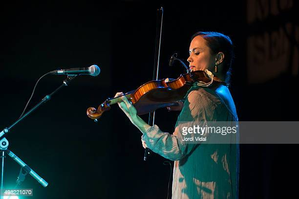 Mirabai Peart performs on stage at Foyer del Gran Teatre del Liceu on November 21 2015 in Barcelona Spain