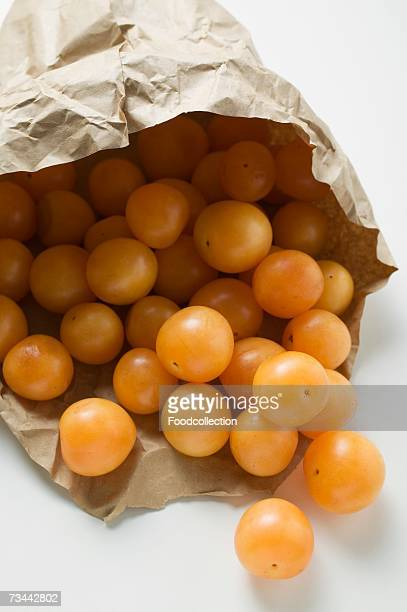 Mirabelles in a paper bag