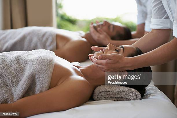 miracle inducing hands - massage stock photos and pictures