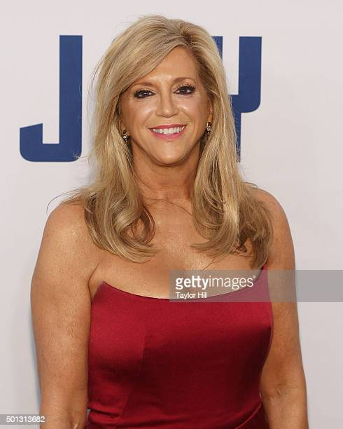 Miracle Mop inventor Joy Mangano attends the premiere of Joy at Ziegfeld Theater on December 13 2015 in New York City