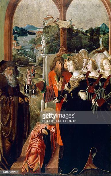 Miracle of the body of St James a panel of St James and St Stephen's Altar by Marx Reichlich Monaco Alte Pinakothek