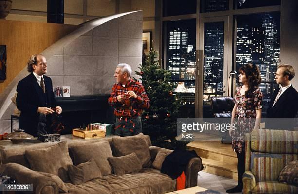 FRASIER MIracle on Third or Fourth Street Episode 12 Pictured Kelsey Grammer as Doctor Frasier Crane John Mahoney as Martin Crane Jane Leeves as...