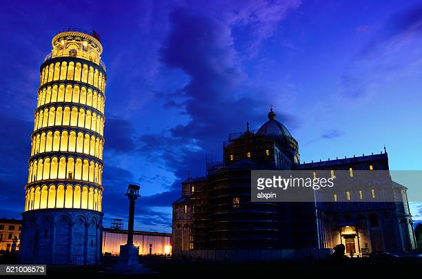 miracles square of pisa - leaning tower of pisa stock photos and pictures