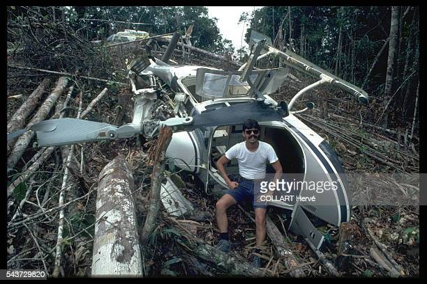 Miraculously unharmed when his helicopter crashed this pilot who works for golddiggers will take any risk he flies with maximum load under all...