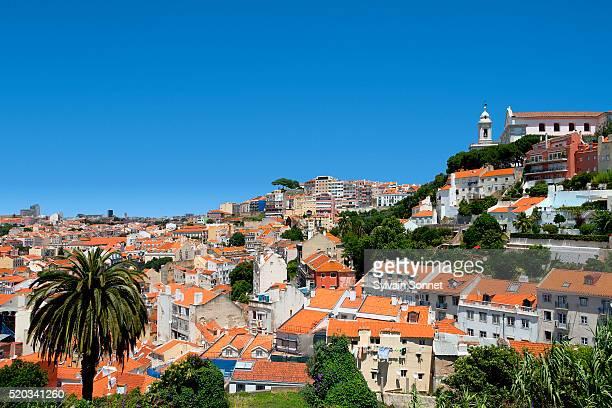 miradouro de graca seen from the rua costa do castelo - rua fotografías e imágenes de stock