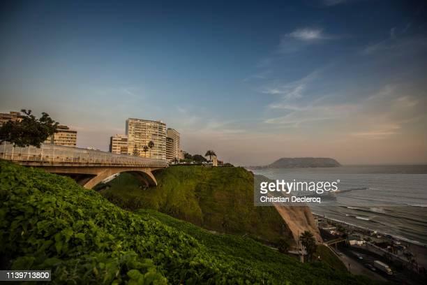 miraflores district, lima city - peru - lima peru fotografías e imágenes de stock
