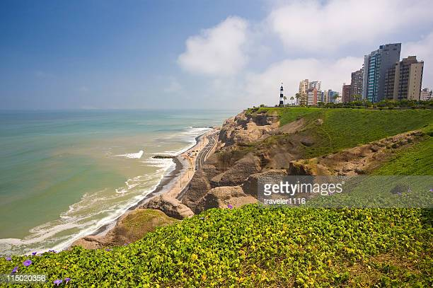 miraflores in lima, peru - lima stock pictures, royalty-free photos & images