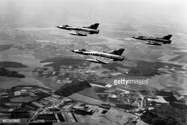 'Mirages' of the Israeli army fly over the Sinai at the IsraeliEgyptian border on June 5 on the first day of the SixDay War between Israel and Egypt...