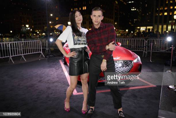 Mirai Nagasu and Adam Rippon as Harper's BAZAAR Celebrates ICONS By Carine Roitfeld at the Plaza Hotel on September 7 2018 in New York City