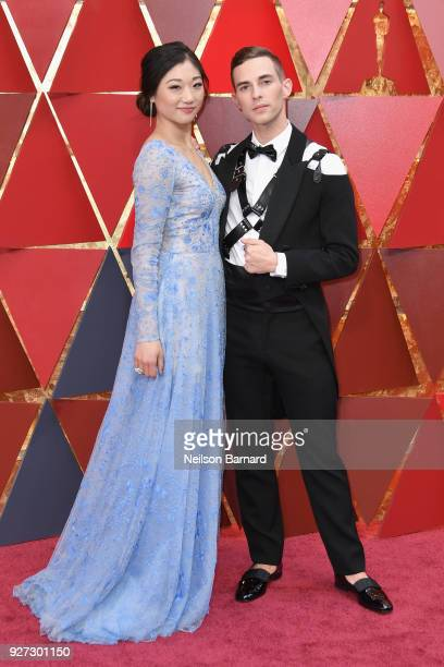 Mirai Nagasu and Adam Rippon attend the 90th Annual Academy Awards at Hollywood Highland Center on March 4 2018 in Hollywood California