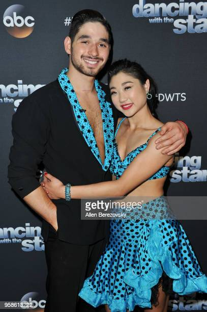 Mirai Nagasu and Alan Bersten attend ABC's 'Dancing With The Stars Athletes' Season 26 semifinal show on May 14 2018 in Los Angeles California