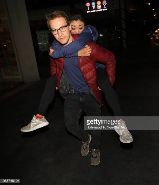 Mirai Nagasu and Darian Weiss are seen on May 14 2018 in Los Angeles California