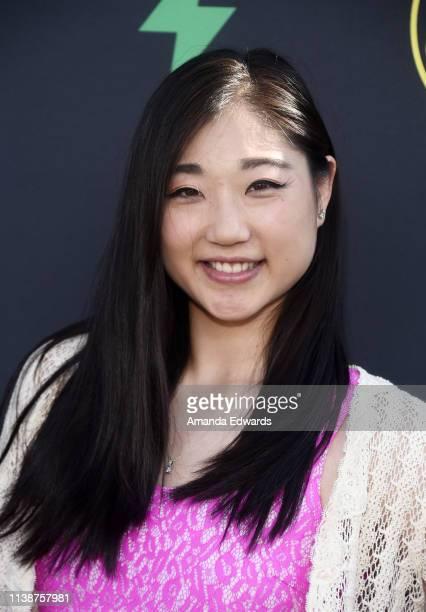 Mirai Nagasu arrives at the 2nd Annual Freeform Summit at Goya Studios on March 27 2019 in Los Angeles California