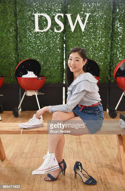 Mirai Nagasu attends DSW Block Party hosted by Olympians Adam Rippon and Mirai Nagasu on June 27 2018 at Ramscale Studio in New York City