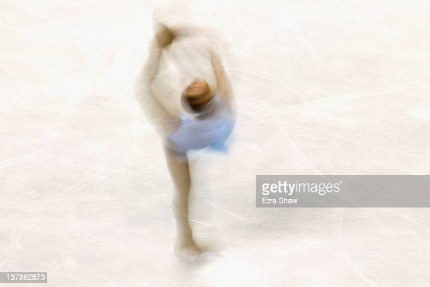 Mirai Nagasu competes during the ladies free skate program during the 2012 US Figure Skating Championships at HP Pavilion on January 28 2012 in San...