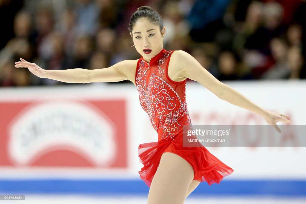 Mirai Nagasu competes in the Ladies Free Skate during the 2018 Prudential U.S. Figure Skating Championships at the SAP Center on January 5, 2018 in San Jose, California.
