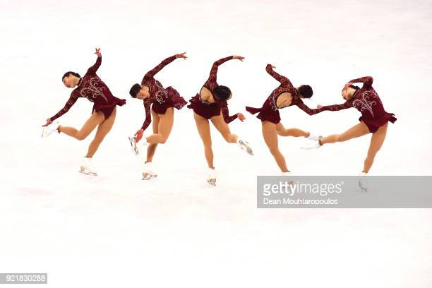 Mirai Nagasu of the United States competes during the Ladies Single Skating Short Program on day twelve of the PyeongChang 2018 Winter Olympic Games...