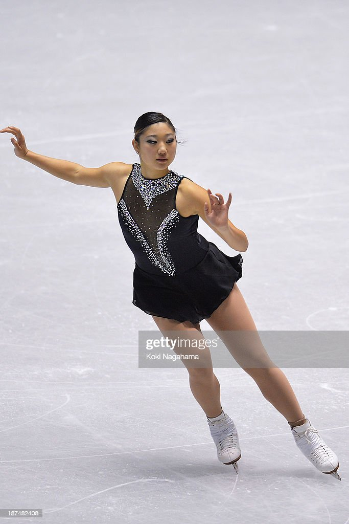 Mirai Nagasu of The United States competes in the women's free program during day two of ISU Grand Prix of Figure Skating 2013/2014 NHK Trophy at Yoyogi National Gymnasium on November 9, 2013 in Tokyo, Japan.