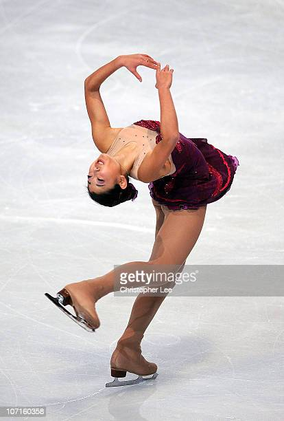 Mirai Nagasu of the United States performs in the Ladies Short Program during the ISU GP Trophee Eric Bompard 2010 at the Palais omnisport de Paris...