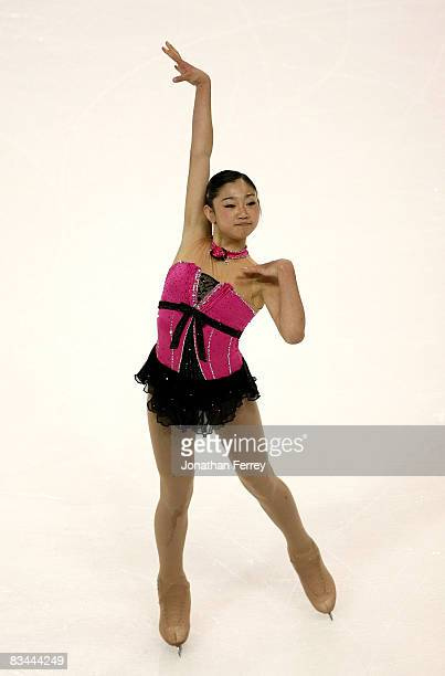 Mirai Nagasu of the United States skates the ladies free skate during day 3 of 2008 Skate America at the Comcast Arena on October 26, 2008 in...