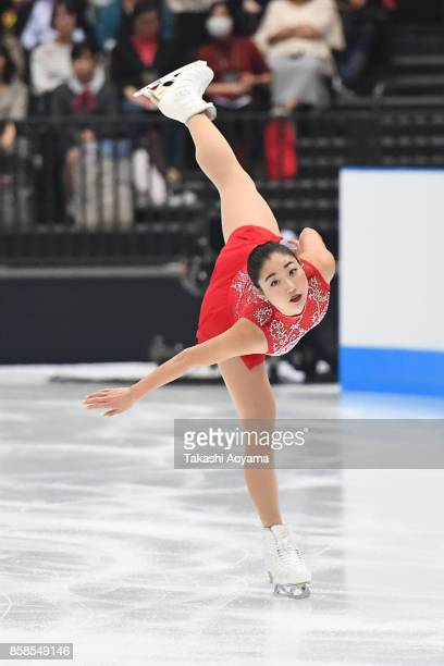Mirai Nagasu of United States competes during the figure skating Japan Open at Saitama Super Arena on October 7 2017 in Saitama Japan